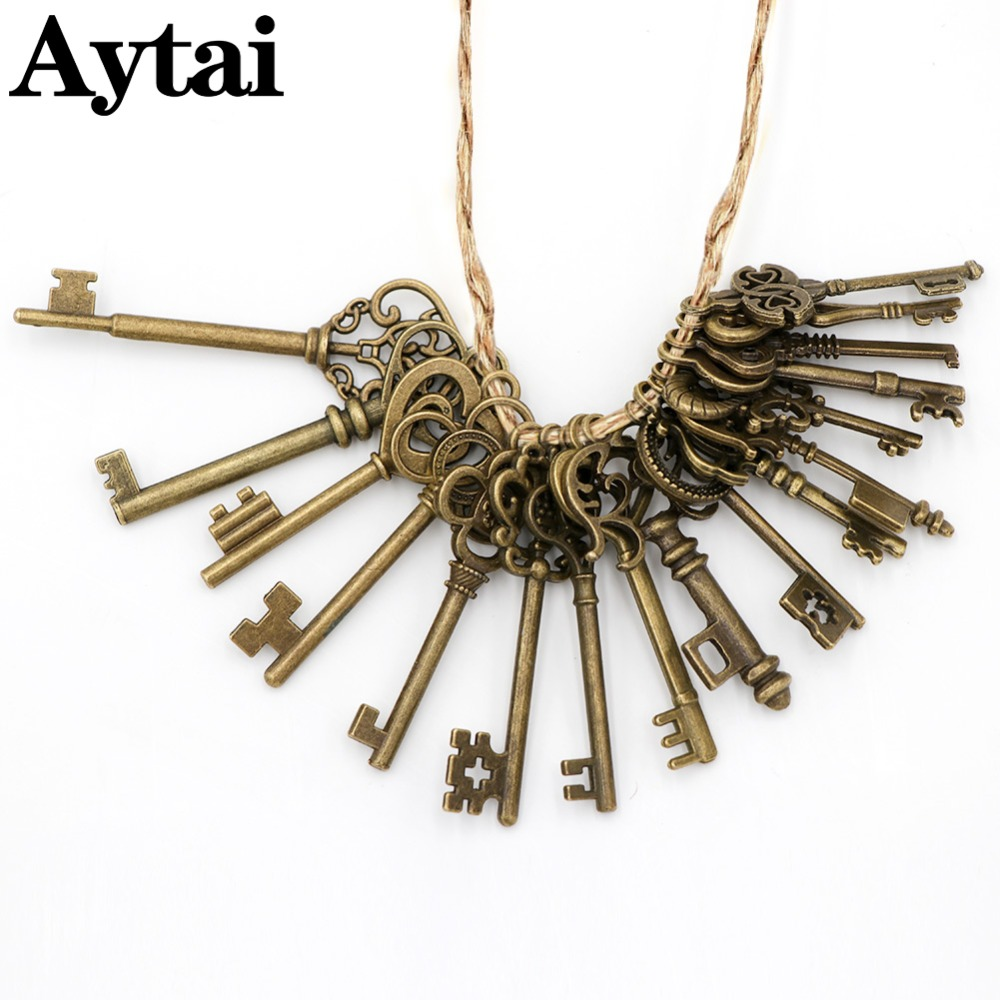 Aytai Wedding Souvenirs Mixed 17pcs Antique Bronze Vintage Keys ...