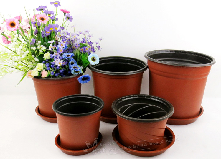 20pcs / lot. D 100 #, garden supplies. Shatterproof plastic pots filled with potting seed fine creative pot nursery pots