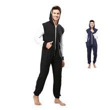 72e1d831ef147 Centuryestar Pyjamas Hoodies Hiver Pyjamas Costumes Globaux Solide Couleur  de Nuit Avec Fermeture Éclair À Capuchon Pijama Ensem.