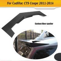Углеродного волокна заднего крыла спойлер задний Багажник крыло для Cadillac CTS 2 двери 2011 2014