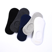 5 Pairs/lot Solid Classic Socks Casual Travel Business Work White Black Invisible Short Style  Gifts For Men Cotton sock