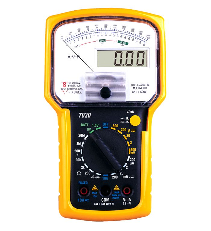 High Precision Professional Digital Dual Display Analogue Multimeter Tester Voltage Current Ohm Measuring Instrument Multimeter