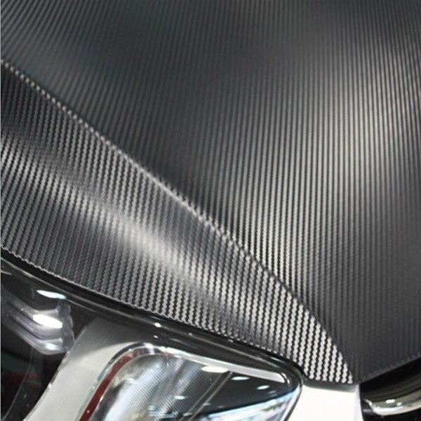 1.27X10 M/Roll noir 3D autocollant en Fiber de carbone pour voiture moto autocollant 3D film d'emballage en Fiber de carbone