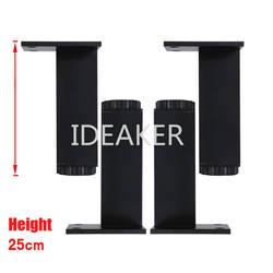 4 шт. 250x38 мм Алюминиевые ножки регулируемые по высоте черные прямоугольные ножки