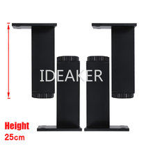 4PCS 250x38MM Aluminum Alloy Legs Height Adjustable Black Rectangle Feet Cabinet Table Legs(China)