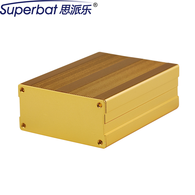 Superbat 3.94 ''* 2.99'' * 1.38 ''Placa de Circuito Caja Proyecto de Aluminio Del Proyecto de Enclousure Electronic Case DIY 100x76x35mm