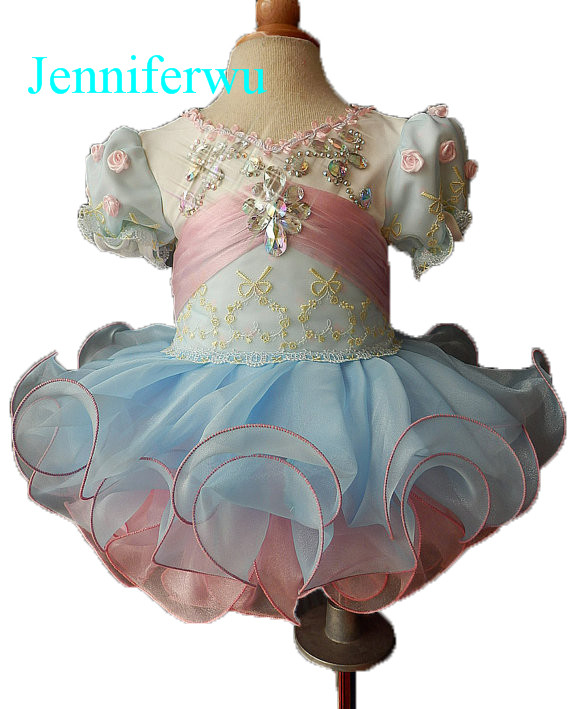 crystal beaded baby girl pageant dress 1T-6T E033 интеркулер kang wild 1 6t 1 6t 53039700174