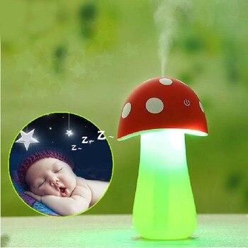 Portable usb mini mist maker mushroom lamp air humidifier purifier for baby room office car.jpg 350x350
