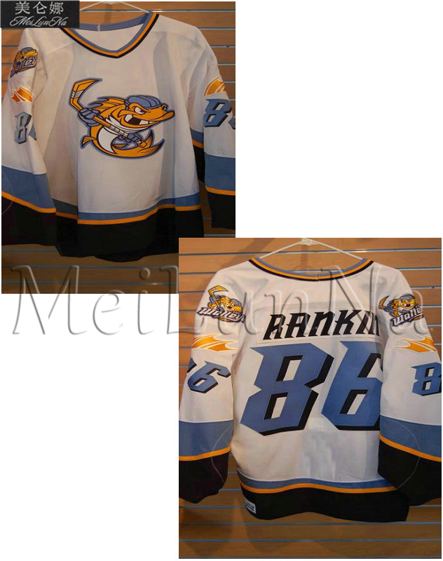 Customize ECHL Toledo Walleye 86 Evan Rankin Jersey Home White01