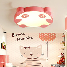 creative cartoon animal LED panda ceiling lamp for boy bedroom kid room girl Children's Bedroom lighting Kindergarten light e27 led ceiling lamp children bedroom light main bedroom light boy girl warm romantic star cartoon shaped lights creative