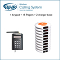 Wireless Waiter Call System For Restaurant Services Pager(1 Keypad + 15 Coaster Pagers + 2 Charger Bases)