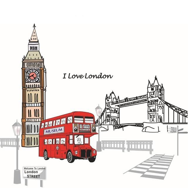 ღ ღ Fundecor  Новый дизайн Лондонский мост, Биг Бен настенные ... 41ff824e6cc