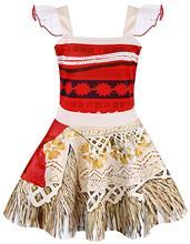 FEECOLOR I PCS Princess Moana Dress Little Girls Lace Sleeveless Costume Cosplay Outfit