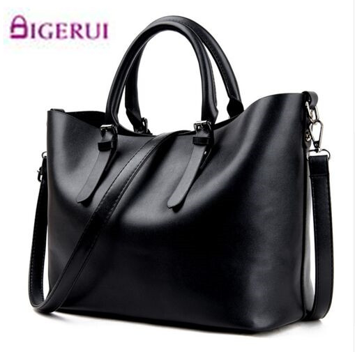 Bolso Mujer Negro 2017 Fashion Hobos Women Bag Ladies Brand Leather Handbags Spring Casual Tote Bag Big Shoulder Bags For Woman feral cat ladies hand bags pvc crossbody bags for women single trapeze shoulder bag dames tassen handbag bolso mujer handtassen