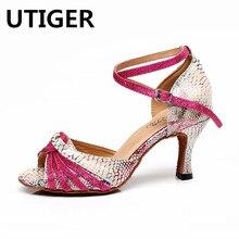 Baile de salón Latino zapatos de mujer Zapatos rojo zapatos de Tango 6 CM  7 706e2d0c5216
