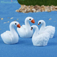 Swan Resin Ornaments Micro Landscape Couple Creative Craft Home Decorations