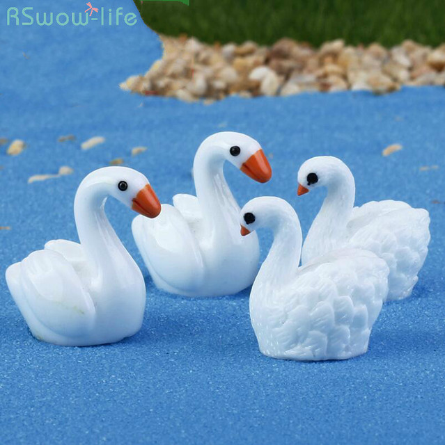 Swan Resin Ornaments Micro Landscape Ornaments Couple Swan Creative Craft Ornaments Home Decorations
