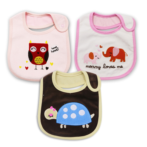 3 stuk bavoir bandana kwaliteit babymeisje bib handdoek speeksel - Babykleding