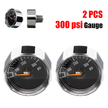 2 Pcs/Lot PCP Mini Air Paintball Pressure Gauge 0.98'' 300 PSI Manometre Manometer Paintball Tank Marker CO2 PCP Manometer
