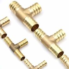 1Pc 6-19mm mosiądz T wąż Joiner kawałek 3 WAY paliwa woda przewód powietrzny złącze TEE tanie tanio Flange Obróbka plastyczna STAINLESS STEEL Hexagon Zmniejszenie