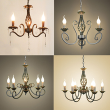 54cm Black Iron industrial lamp creative instrument Chandeliers 3 6 heads candle lights vintage restaurant lamp bar foyer lamps