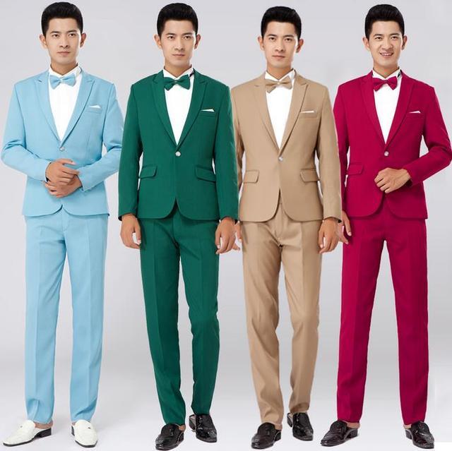 21384cee1 Negro rojo caqui blanco verde azul 2019 nueva llegada vestido trajes para  hombre novio de boda Boda de últimos diseños ...