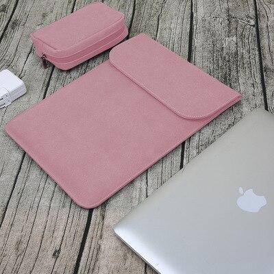 Новая сумка для ноутбука с эффектом потертости для Macbook Air 13 Pro retina 11 12 14 15 чехол для Xiaomi 13,3 15,6 Модный чехол для ноутбука - Цвет: pink sets