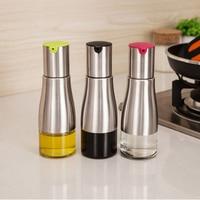Oiler Glass Leak Proof Kitchen Supplies 304 Stainless Steel Oil Bottle Soy Sauce Pot Of Vinegar