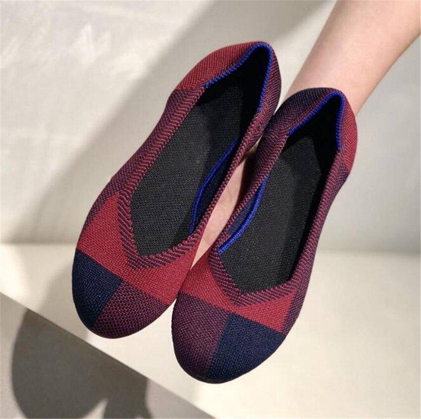 ZOUDKY/2018 г. женская обувь из эластичной ткани в южнокорейском стиле с закрытым носком