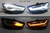 Видео дисплей, бампер лампа для 2 шт светодиодный фары A6L 2012 2013 2014 2015 2016 2017 огни автомобиля светодиодный Габаритные огни