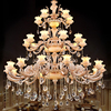 LED Lamp Large Living Room Crystal Chandeliers Villa Grand Chandeliers Hotel Chandelier Stair Led Crystal Chandelier