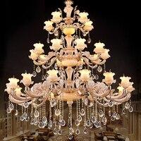 LED Lamp Large Living Room Crystal Chandeliers Villa Grand Chandeliers Hotel Chandelier Stair Led Crystal Chandelier