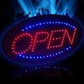 Высокий видимый светодиодный свет вспышка ДВИЖЕНИЕ LED неоновый открытый знак свет 25*48 см