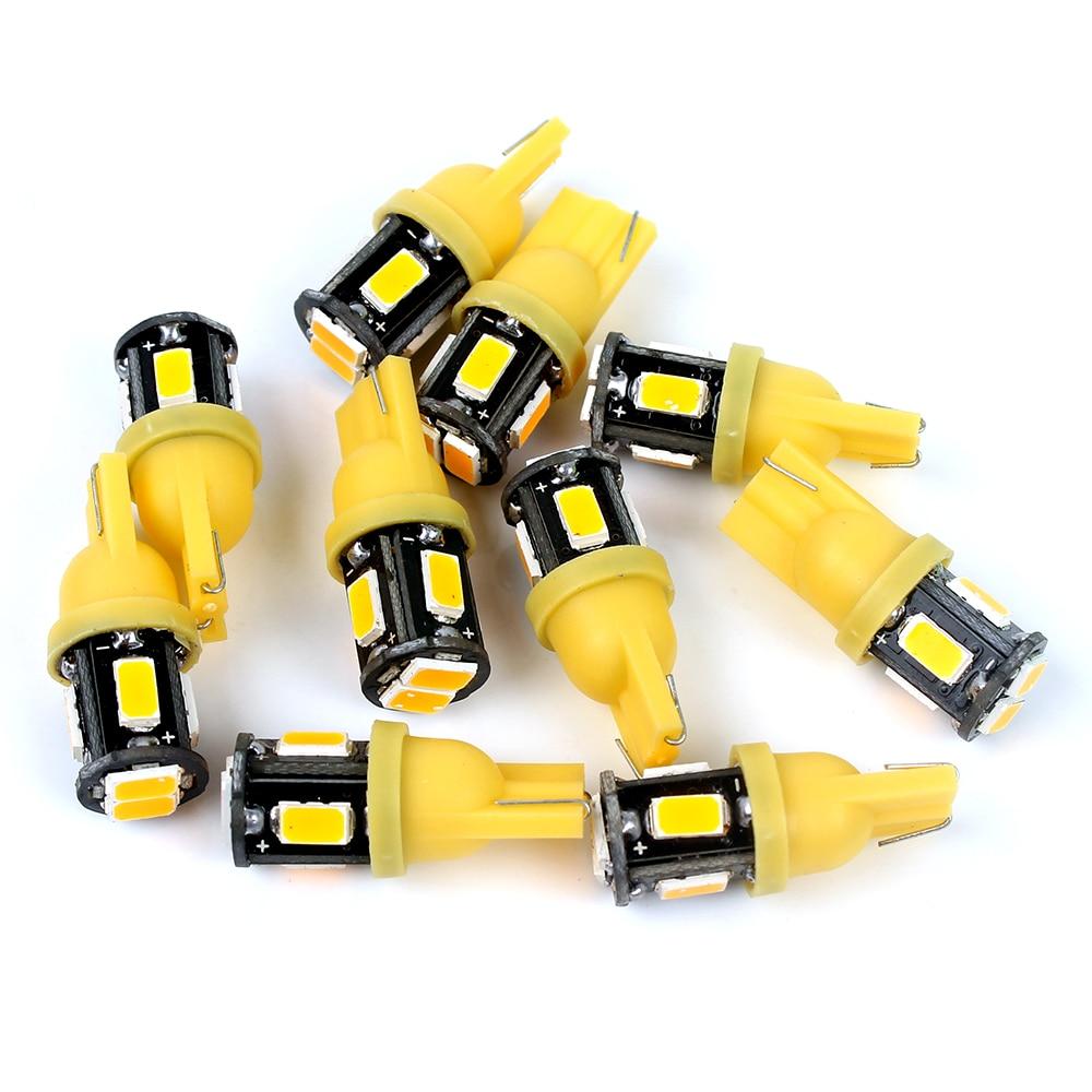 Itimo светодиодные лампы Реверсивный Lampes DC 12 В чтения Lampes T10 6SMD 5630 Plaque d'immatriculation огни 10 шт. высокое качество W5W просвет огни