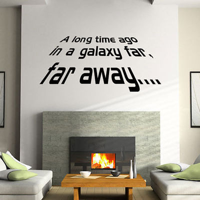 Removable Star Wars Story Quote Wall Stickers Vinyl Decals For Living Room Decoration Poster Adesivos