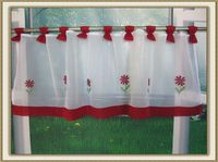 Embroidered Kitchen Den Curtain Window Screening Cabinet Curtain Half Curtain Decorative Window Gauze