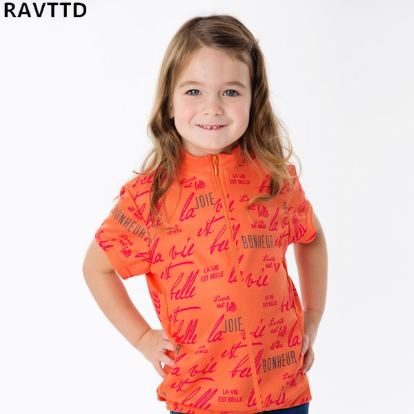 Bike Jersey Sportswear Shirt Clothing Short-Sleeve Children Kid Cartoon Summer for Girl