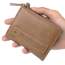 High Quality Men Wallets Puleather Double Zipper Card Holder Short Male Purse Coin Pocket Vintage Brand Quailty