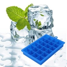 New 24 Grid Silicone Ice Tray Ice Cube Tray Easy To Clean Mold Silicone Ice Form friendly Ice Cream Frozen Party Supplies