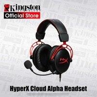 Kingston-Auriculares tipo diadema HyperX Cloud Alpha para jugadores, audífonos de cable con micrófono, deportivos, alta fidelidad, sonido limpio, compatible con PC, PS4, Xbox y dispositivos móviles, edición limitada