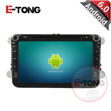 8 inch Android 6.0 Double din Car DVD player GPS Navigation for VW universal with auto Stereo Radio OBD Bluetooth Rear Camera