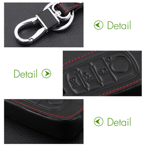 Image 5 - VCiiC Car Key Case Cover For Fiat 500X Toro Tipo Egea 3Button Remote Holder Flip Folding Leather Protector For Dodge Neon Key