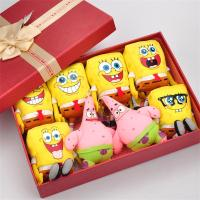 The Original Authorization Cartoon Animal Toy Stuffed SpongeBob And Patrick Star Gift Box Free Shipping Creative