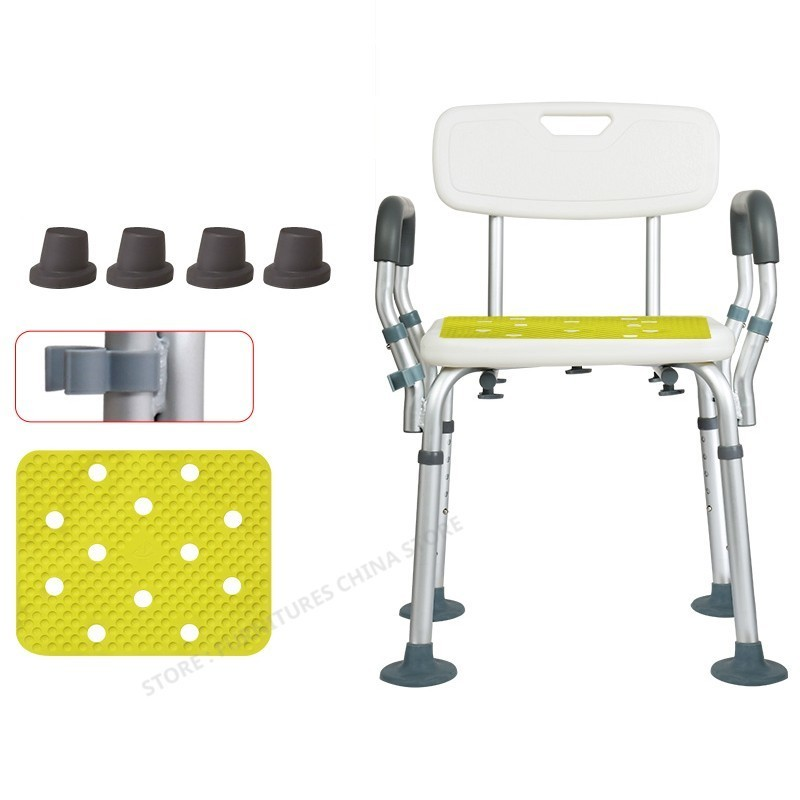 Toilet Chair For Elderly Toilet Foot Stool Bathroom Chair Shower Seat  Toilet Stool   Step Non-slip Metal
