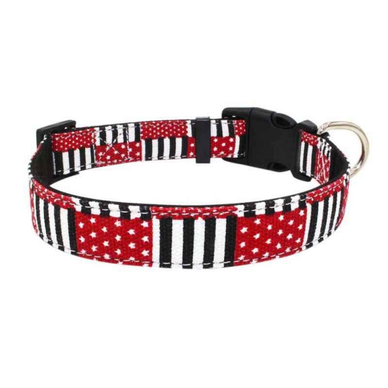 משובץ אמריקה דגל לחיות מחמד צווארון מתכוונן קולרים קטן בינוני גדול כלב חתול גור כלב שרשרת חיות מחמד ספקים