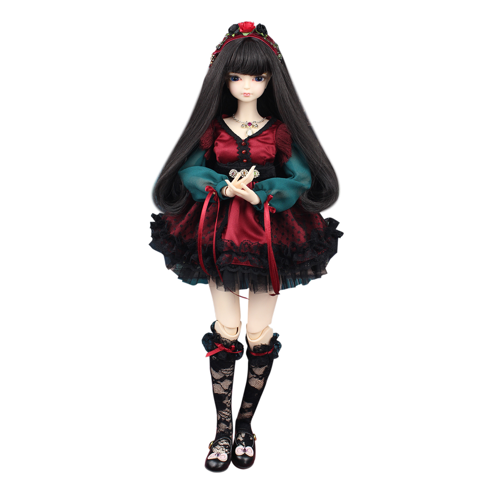 MMGIRL BJD DOLL forturn days 1/4 45cm sweet girl with makeup hair black hair with/without outfits shoes  1