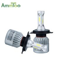 AmmToo H4 H7 LED Car Headlight 12V COB H11 9005 9006 Car Light 72W 8000lm Auto