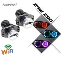 Free Shipping 2Pcs/Set RGB LED Marker Angel Eyes Kit for BMW E90 E91 sedan/wagon canbus no error wifi led angel eyes rings