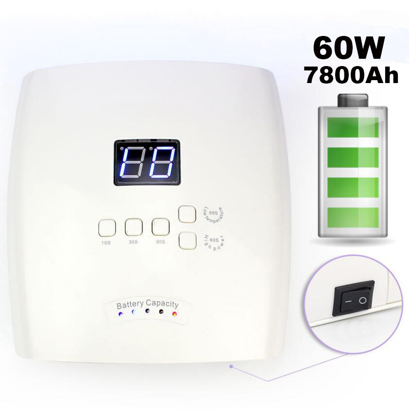 Built-in Battery Rechargeable UV Nail Lamp Gel Nail Polish Dryer Cordless Nail Art Gel Curing Light Nail LED Lamp