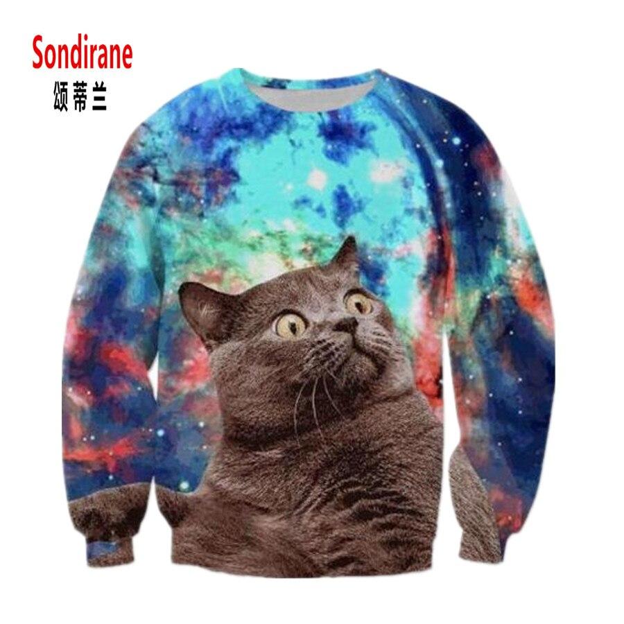 Sondirane New Fashion Men/Women Animal 3D Print Cat Graphic Sweatshirts Long Sleeve Pullover Sweat Tops Casual Tracksuit Outfits